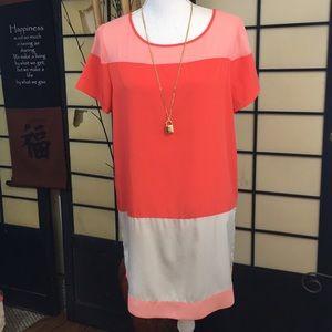 Express color block shift dress